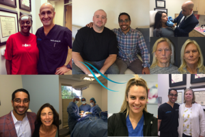 montage of photos including drs lieberman and parikh