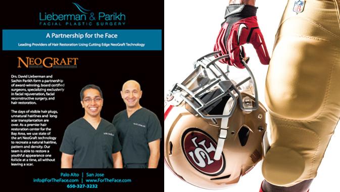 Drs. Lieberman & Parikh Official sponsors of San Francisco 49ers