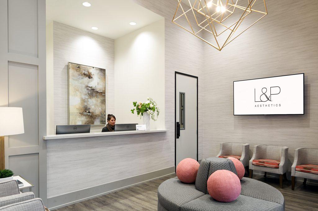 L&P Aesthetics, California's Premiere Medical Spa lobby