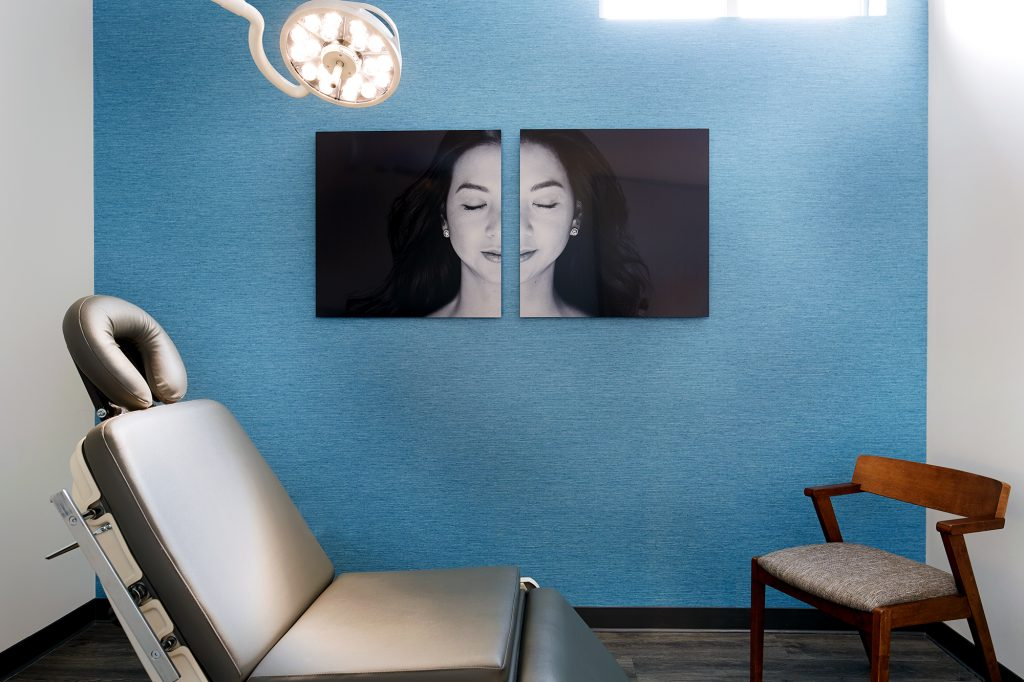 L&P Aesthetics, California's Premiere Medical Spa examination room