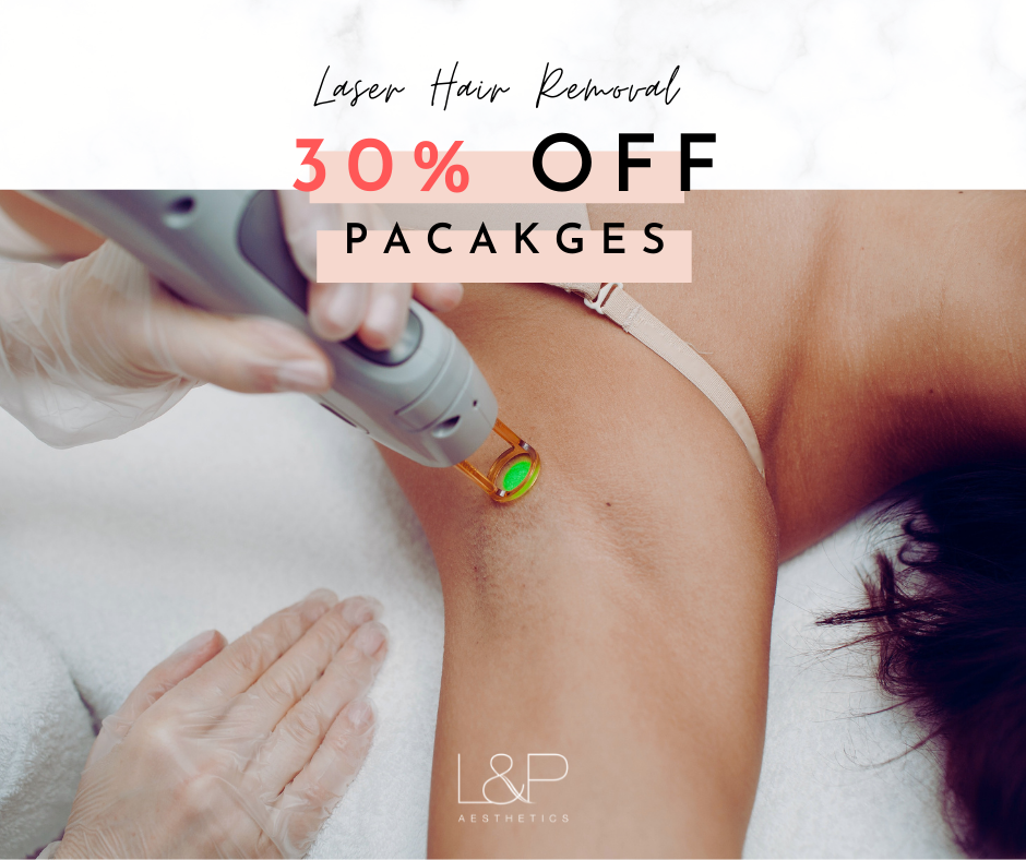 30% off Laser Hair Removal at L&P Aesthetics - image of a woman's armpit