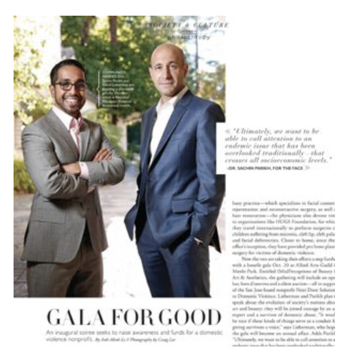 Gala For Good magazine cover for Silicon Valley Magazine with a photo of Drs. Lieberman and Parikh